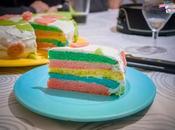 Quand kids pâtissent Rainbow cake déco pâte d'amande