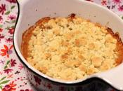 Crumble compote pommes
