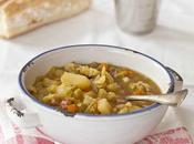 Soupe chou pois cassés, comment obtenir bouillon utilisant sauce soja?