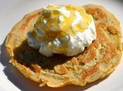 Pancakes farine caroube, yaourt Grecque