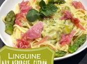 Linguine asperges, citron, parmesan jambon Bayonne