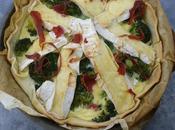 Tarte camembert~brocolis jambon Bayonne