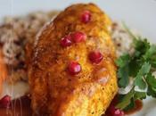 ~Poitrine poulet rôti façon persane avec sauce noix grenoble grenade~