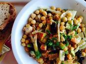 Salade tofu pois chiche épicée