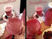 Smoothie fruits rouge grenade