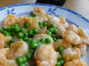 Crevettes sautées tout simplement 清炒虾仁 qīngchǎo xiārén