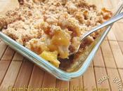 Crumble pommes kiwis jaunes (recette sans gluten)
