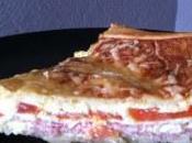 recette ultra simple bonne) tarte bacon-tomate