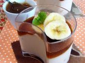Mousse marrons, gelée café banane fraîche