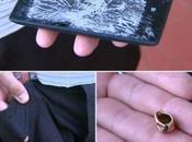 Nokia Lumia sauve d'un homme arrêtant balle