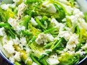 Salade fraîcheur parce décidément j'ai décidé froid n'était plus avant l'année prochaine sucrines, asperges sauvages feta