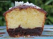 Cake vanille, chocolat noir...nappage lait