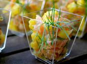 Verrines saumon frais mangue