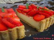 Tarte fraises tofu soyeux verveine