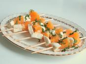 Brochettes mozzarella l'orange menthe