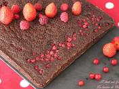 Brownie fondant chocolat noir groseilles