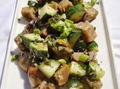 Salade d'aubergines concombres