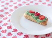 Eclair pistache brunoise fruits rouges