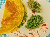 Omelette déclinaisons vertes (roquette, chou, petits pois)