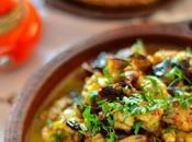Tajine aubergines frites