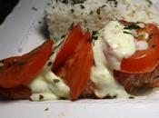 Papillote saumon, tomates mozzarella