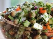 ~Salade pois chiches, concombres herbes fraîches~