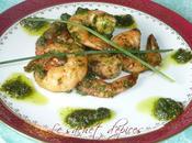 Crevettes sauce verte l'ail