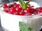 Fromage blanc sirop fraises fruits rouges