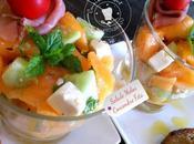 Salade melon concombre feta