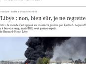 BHL, QUEL SALAUD Libye: foulosophe rien regretter. frise pathologie