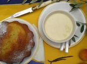 Biscuit tiède crème pâtissière l'huile d'olive