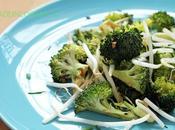 Salade brocoli, germes soja sauce