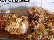Côtes porc miel gingembre marinade)