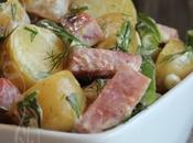 ~Salade-repas pommes terre grelots, haricots jambon~
