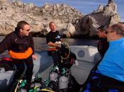 Avenir dans plongée faire rentrée sous-marine