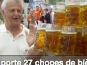 Record Monde Litres bières portées même temps