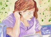 Pause lecture jardin l'aquarelle