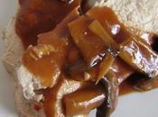 Rôti dinde sauce tomatée champignons