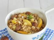 Salade automnale crozets bio, pommes, marrons comté