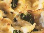 Effeuillade morue épinards branches, sauce façon Mornay