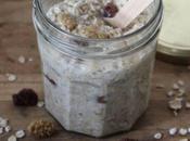 Overnight oats coco-framboises séchées (porridge sans cuisson)