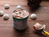 Glace marbrée marrons meringue