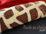 Biscuit roulé chocolat... décor girafe