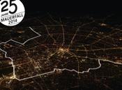 frontière lumineuse long pour chute Berlin