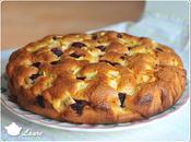 Gâteau mascarpone, pommes framboises