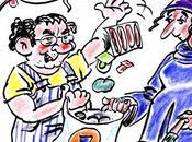 Caricature Coluche