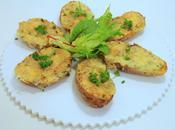 Pommes terre farcies crème, emmental fines herbes