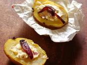 Pommes terre farcis camembert oignons rouges cofits