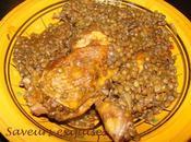 Ragoût tunisien poulet lentilles Marquit âadas marga lentilles)