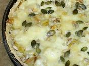Tarte poireaux fromage, pâte croustillante flocons d'avoine